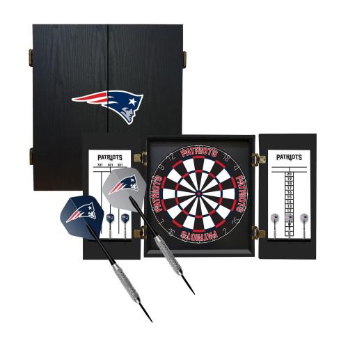 624-1011, New England, NE, Patriots, Fan's Choice, Dartboard, Cabinet, Darts, Flights, Set, FREE SHIPPING,