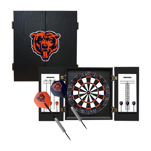 624-1019, Chicago, Bears, Fan's Choice, Dartboard, Cabinet, Darts, Flights, Set, FREE SHIPPING,