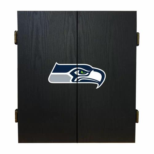 624-1024, Seattle, Seahawks, Fan's Choice, Dartboard, Cabinet, Darts, Flights, Set, FREE SHIPPING,