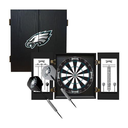 624-1037, Philadelphia, Eagles, Fan's Choice, Dartboard, Cabinet, Darts, Flights, Set, FREE SHIPPING,