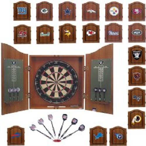 NFL Team Dartboard & Cabinet Set, FREE SHIPPING, 624-1001, 624-1002, 624-1003, 624-1004, 624-1005, 624-1007, 624-1010, 624-1013, 624-1019,