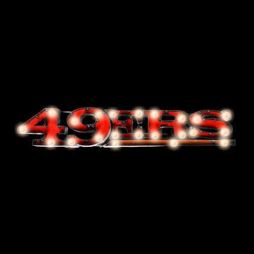 546-1005, SF, San Francisco, 49ers, NFL,  4', Lighted, Recycled, Metal, Sign, FREE SHIPPING, 546-1005