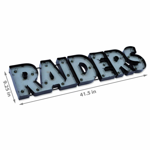 546-1010, LV, Las Vegas, Raiders, NFL,  4', Lighted, Recycled, Metal, Sign, FREE SHIPPING, 546-1010