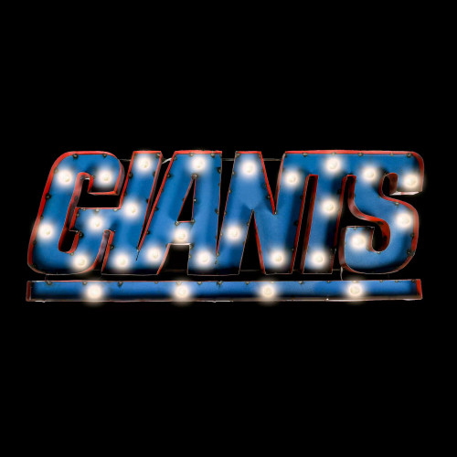 546-1013, NY, New York, Giants, NFL,  4', Lighted, Recycled, Metal, Sign, FREE SHIPPING, 546-1013
