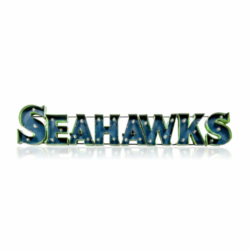 546-1024,Seattle, Seahawks, NFL,  4', Lighted, Recycled, Metal, Sign, FREE SHIPPING, 546-1024
