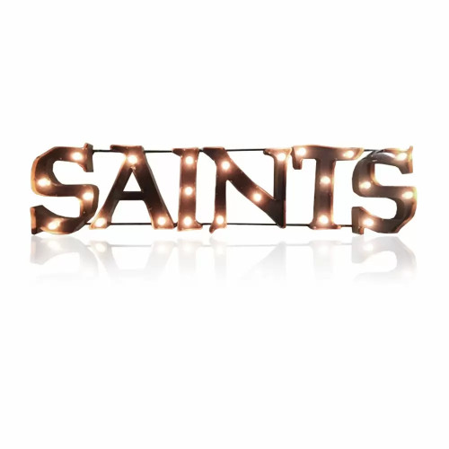 546-1031,NO, NOLA, New Orleans, Saints, NFL,  4', Lighted, Recycled, Metal, Sign, FREE SHIPPING, 546-1031