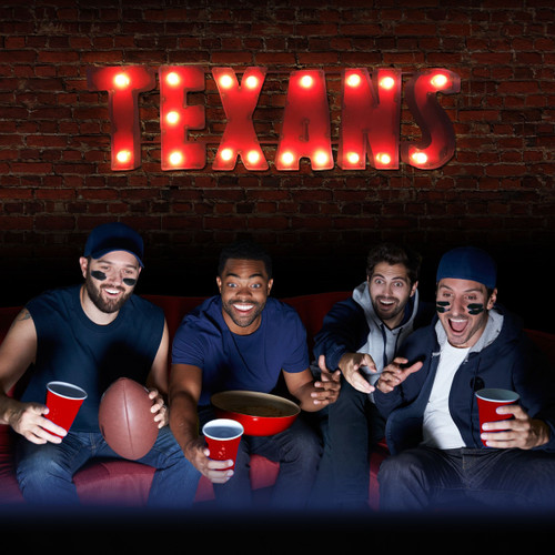 546-1034, Houston, Texans, NFL,  4', Lighted, Recycled, Metal, Sign, FREE SHIPPING, 546-1034