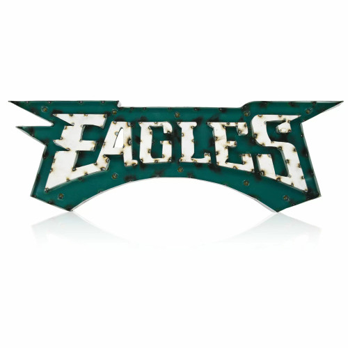 546-1037, Philadelphia, Eagles, NFL,  4', Lighted, Recycled, Metal, Sign, FREE SHIPPING, 546-1037