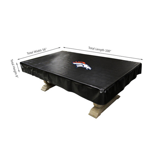 80-1003, Denver, Broncos, 8-ft, Deluxe. Billiard, Pool, Table, Cover, FREE SHIPPING