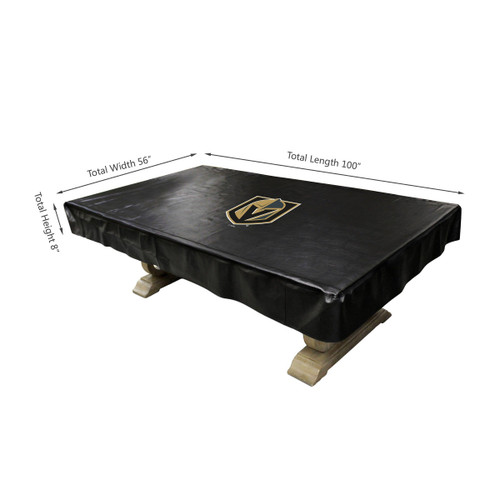 80-5032, LV, Las Vegas, Golden, Knights, 8-ft, Deluxe. Billiard, Pool, Table, Cover, FREE SHIPPING