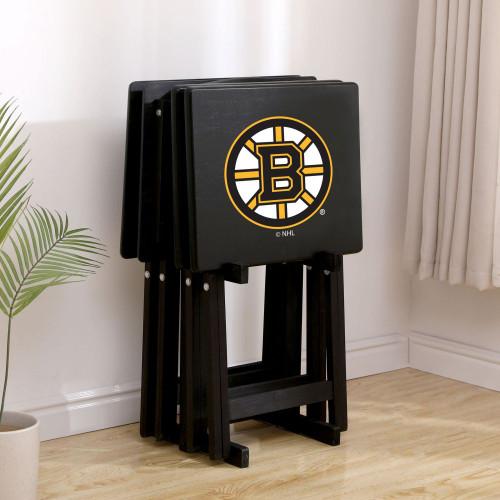 86-4001, Boston, Bruins®, TV, Snack, Tray, Set, NHL, FREE SHIPPING