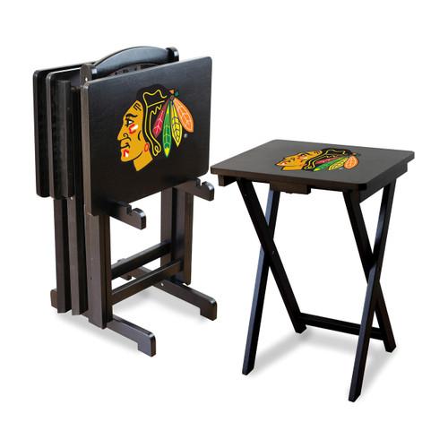 86-4002, Chicago, Blackhawks, TV, Snack, Tray, Set, NHL, FREE SHIPPING
