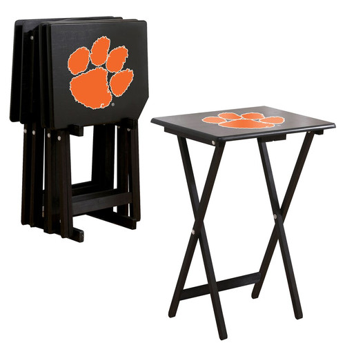 86-3043, Clemson, Tigers, TV, Snack, Tray, Set, NCAA, FREE SHIPPING