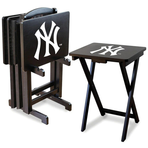 86-2001, NY, New York, Yankees, TV, Snack, Tray, Set, MLB, FREE SHIPPING