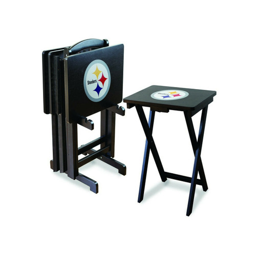 86-1004, Pittsburg, Steelers, TV, Snack, Tray, Set, NFL, FREE SHIPPING