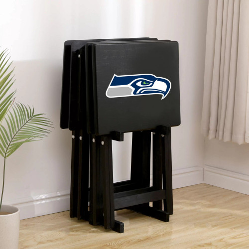 86-1024, Seattle, Seahawks, TV, Snack, Tray, Set, NFL, FREE SHIPPING