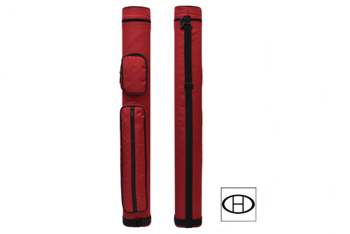 033-004E-RD, Delta, Sport, 2x2, Oval, Cue Case,, Red, FREE SHIPPING