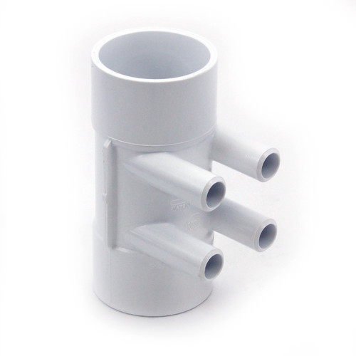 "2"" x 2"" x (4) 3/4"" SB Port PVC Water Manifold by Waterway 672-4170"