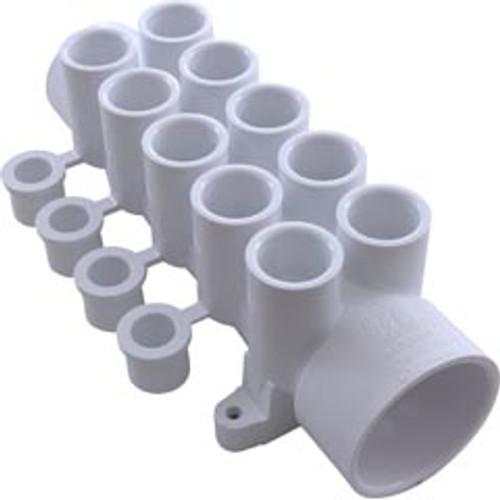 "Waterway, Dream Maker, 1-1/2""slip, 1-1/2""spigot, Ten 1/2"" Ports, Water, Manifold, w/Plugs, FREE SHIPPING, 672-4630, 377350, 477350, 611201 , 6724630 , 806105120304 , 9405-02 , 9405-21 , WW6724630B , WWP-85-8022"
