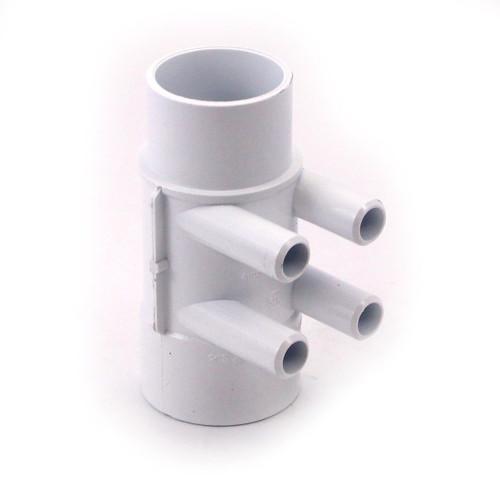 "4 Port 2"" X 2"" X (4) 3/4"" SB PVC  Water Manifold by Waterway 672-4160"