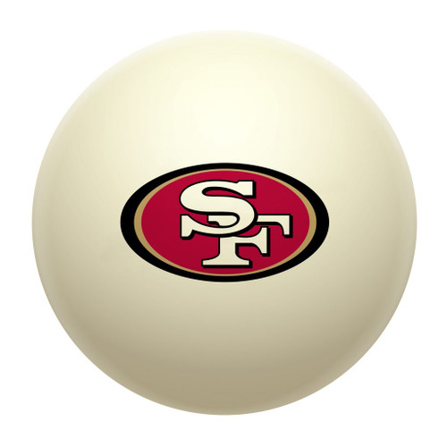610-1005, SF, San Francisco, 49ers, Cue, Ball, Billiards, Pool. NFL, FREE SHIPPING