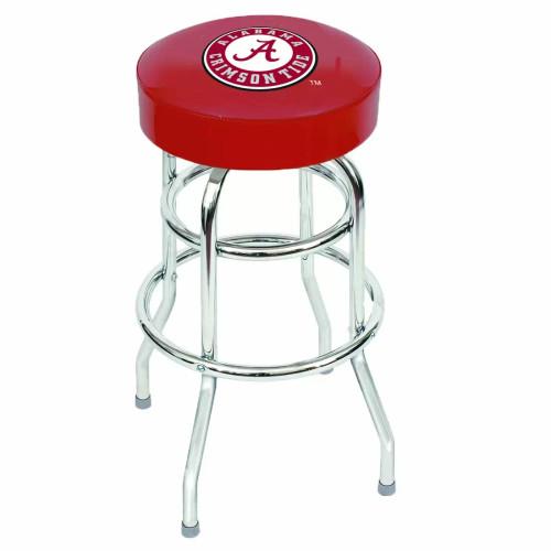 "61-4001, Alabama, Crimson Tide, 30"" Chrome, Bar, Stool, NCAA"