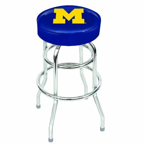 "61-4009, University, of, Michigan, Wolverines, 30"", Chrome, Bar, Stool, NCAA"