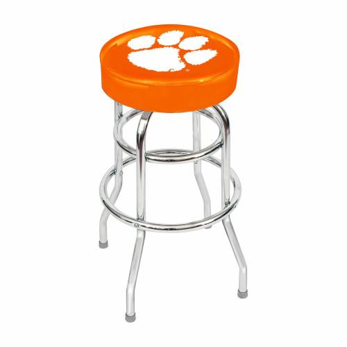 """61-4043, Clemson, Tigers, 30"""", Chrome, Bar, Stool, NCAA"""