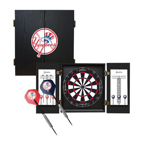 624-2001, NY, New York, Yankees, Fan's Choice, Dartboard, Cabinet, Darts, Flights, Set, FREE SHIPPING, MLB