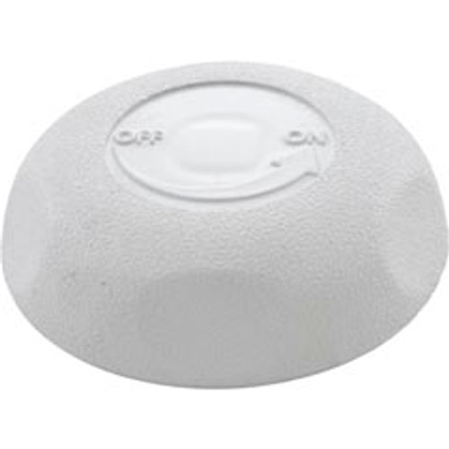 "Waterway 2 1/2"" Single Port On/Off Valve Knob, White, 6024350"