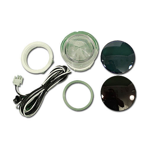 "3 1/2"" Light Kit, w/ Lens , 8'  Wire Harness, Color Lenses, Rear Access, 3-1/2""Face, 2-1/2""Hole 630-5205"