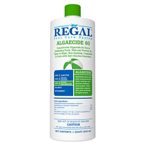 Qt, Regal, Algaecide, Poly, 60, Green, algae, black, mustard algae,50-2660,  RGL-50-2660, swimming pool