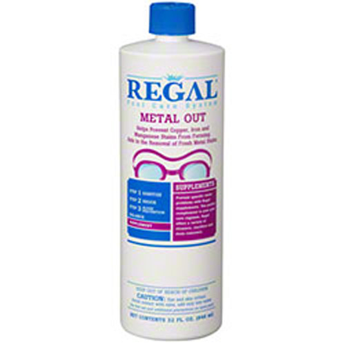 Regal, Qt, Metal, Out, scale, iron, copper, manganese, discoloration, remover, preventative, FREE SHIPPING, weekly, monthly, swimming, pool, biolab, bioguard, leslies, pinch a penny