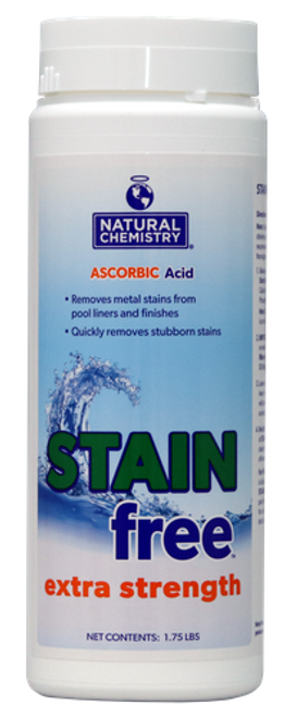 Stainfree, stainfree™, Extra, Strength, Stain, metal, Remover,  Natural Chemistry, FREE SHIPPING, ascorbic, acid, swimming pool, biolab, bioguard, leslies, pinch a penny, NAT-50-972