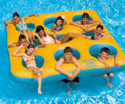 Labyrinth Inflatable Island Lounger