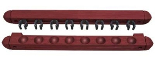 2pc Mahogany Wall Rack