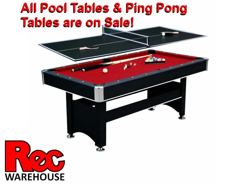 All Pool Tables & Ping Pong Tables are on Sale!