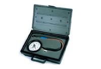 Moroso- Tire Gauge, 4 in. Diameter, 0-15 psi, 15 1/ 2 in. Hose, Stop Valve, Storage Case