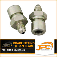 JPC- 96-04 Mustang Brake Fitting to -3an Flare ( pair )