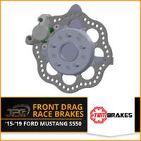 TBM Brakes -  15-19 Ford Mustang Front Brake Kit (Reusing Factory Hubs)