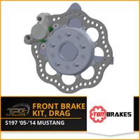 TBM Brakes -  05-14 Mustang S197 Medium Duty Drag Racing Front Brake Kit (Reusing Factory Hubs)