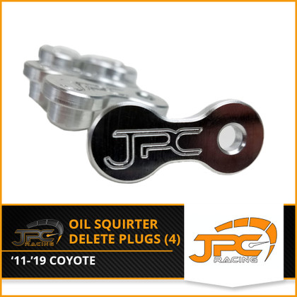 JPC Billet Oil Squirter Delete Plugs (2011-2019 Coyote Engine) set of 4