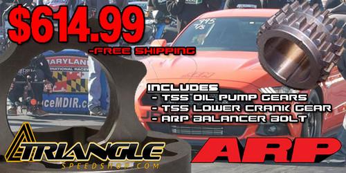 JPC- 2015-2017 GT/GT350 TSS Billet Oil Pump & Crank Gear Bundle w/ARP Bolt