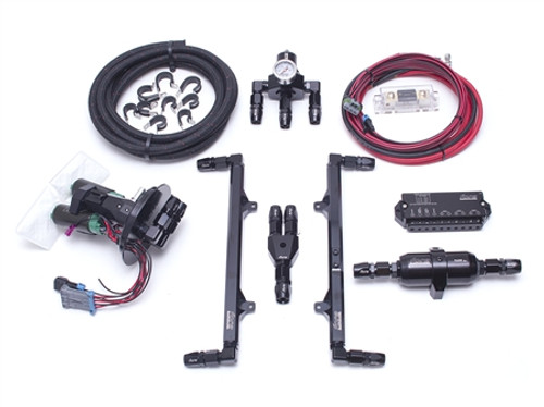 Fore- 11-17 Mustang GT L4 Fuel System (Triple Pump)