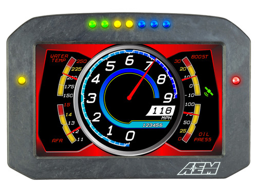 AEM- CD-7FL Carbon Logging Flat Panel Digital Dash Display