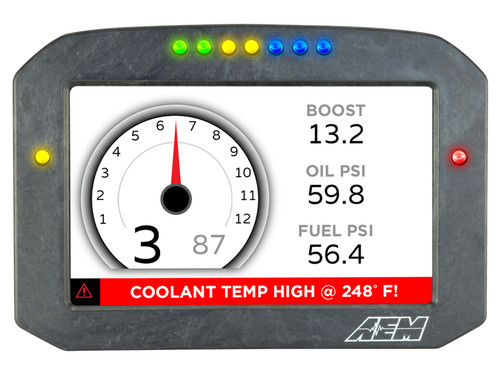 AEM- CD-7FG Carbon GPS-Enabled Flat Panel Digital Dash Display