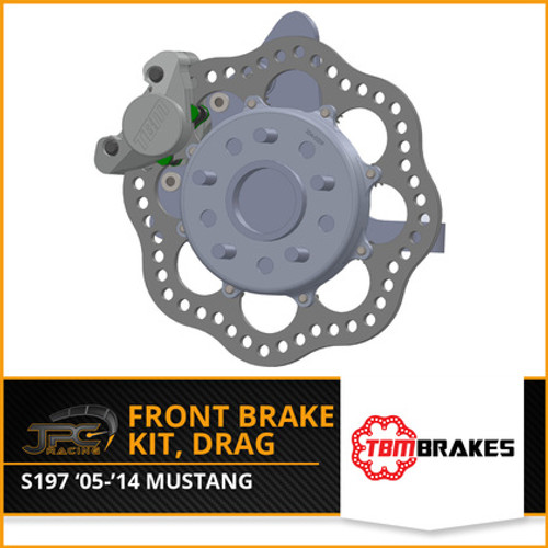 TBM Brakes -  05-14 Mustang S197 Medium Duty Drag Racing Front Brake Kit (Reusing Factory Hubs)