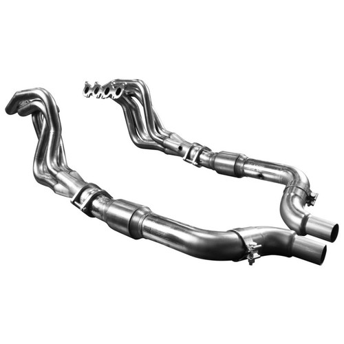 """Kooks - 2015-2020 Mustang GT 1-7/8"""" SS HEADERS & GREEN CATTED CONNECTION KIT"""