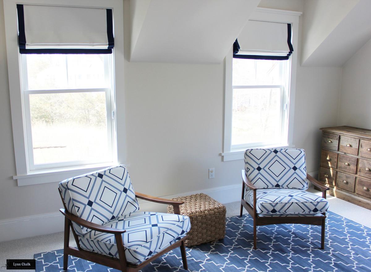 Roman Shade in Boys Bedroom with Chair in Victoria Hagan ...
