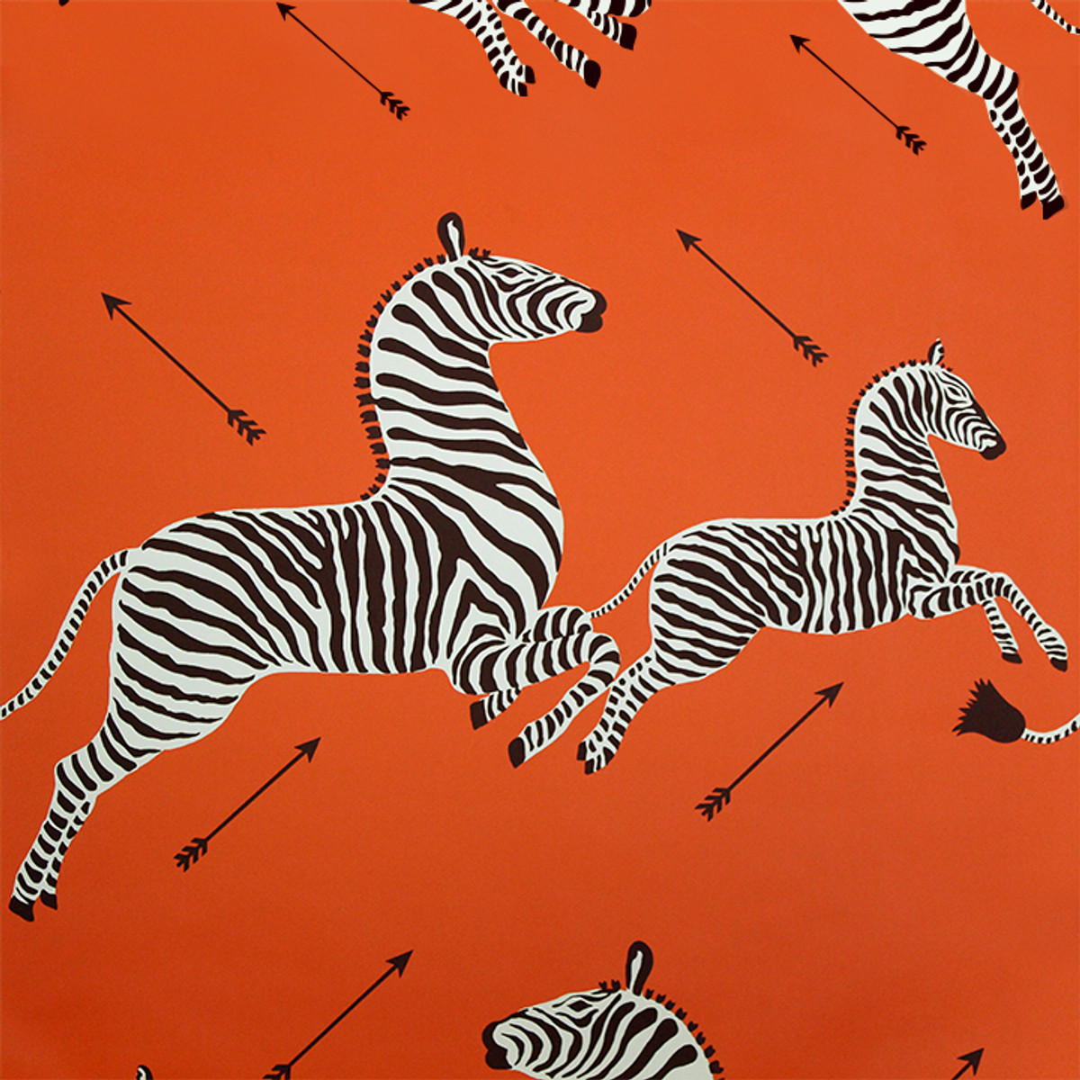 Scalamandre Zebras Wallpaper Orange - 2 Roll Minimum Order